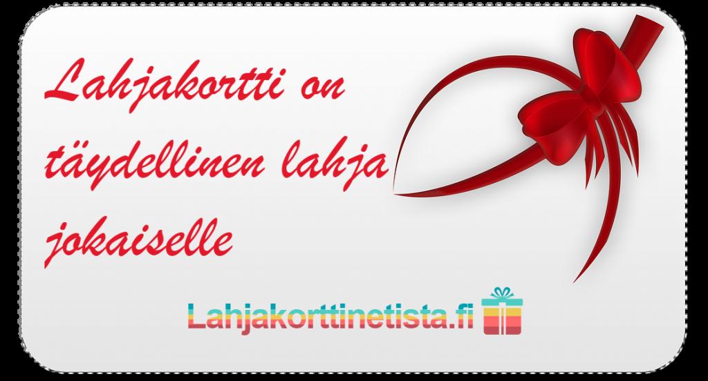 Lahjakortti netistä nopeasti & edullisesti - Lahjakorttinetista.fi