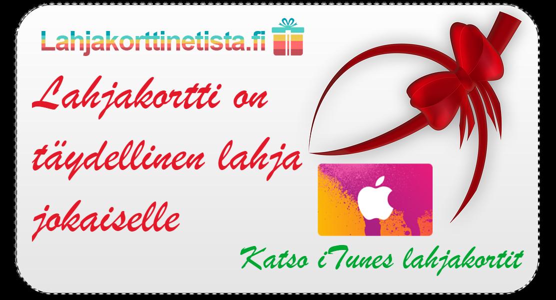 Osta iTunes lahjakortti lahjaksi netistä nopeasti & edullisesti - Lahjakorttinetista.fi