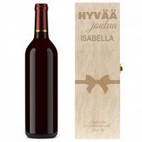 Jouluinen lahjapakkaus viinille 19,90€